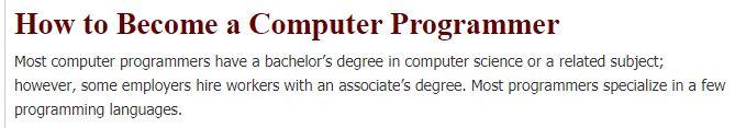 H-1B Visa for Computer Programmer
